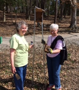 Barbara and Jo Anne with poles 3