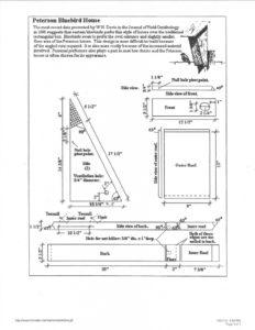 peterson bluebird house plans